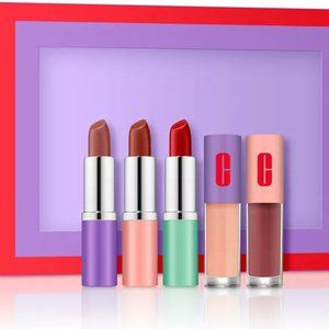 "Clinique 5 Piece Lip Gift Set ""Plenty Of Pop"" NEW"